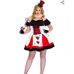 "Women's Plus ""Pretty Playing Card"" Costume"